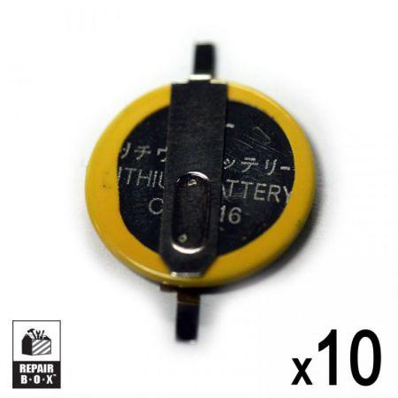 Lot 10 Piles Rechange CR1616 Pour Jeux Game Boy Advance / SP / Color & Pokemon