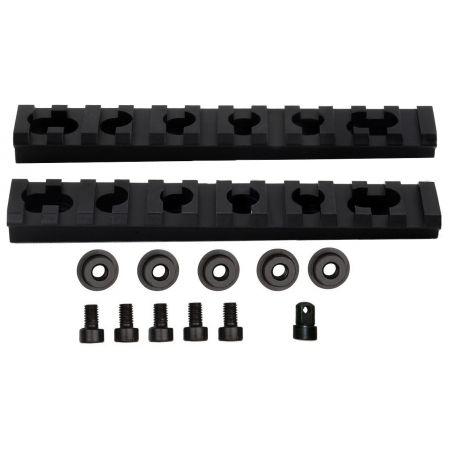 Lot 2 Rails Picatinny Pour Garde Main Fusil M4 M4A1 M15 M16 - 605212