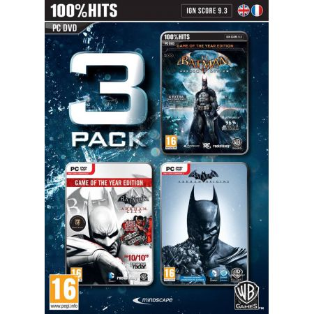 Lot 3 jeux Pc - Batman Arkham Asylum + Arkham City + Arkham Origins