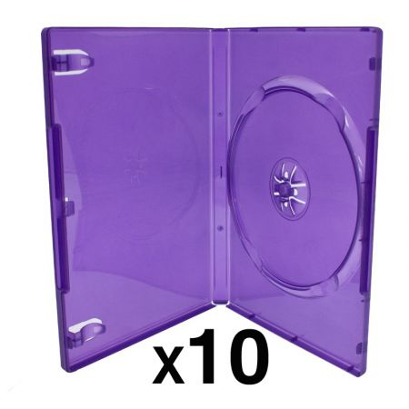 Lot de 10 Boitier Violet Transparent CD / DVD / Jeu Video Kinect Xbox 360 - XR00010TPK_36_1