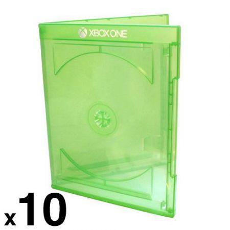 Lot de 10 Boitiers Jeu Xbox One Officiel Microsoft Vert Transparent - Jeu Video - BRAMAXBOXK_104