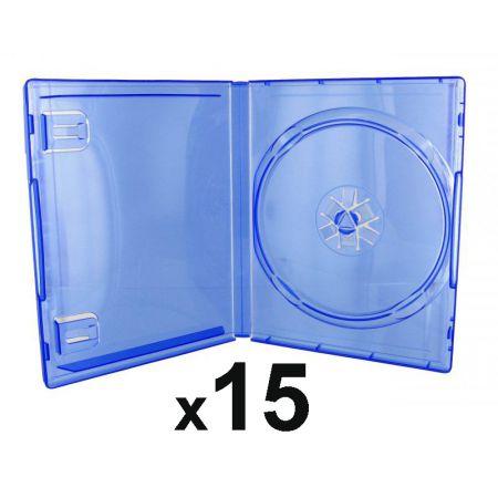 Lot de 15 Boitiers Bleu Transparent Pour Jeu Sony PS4 - PS4_104