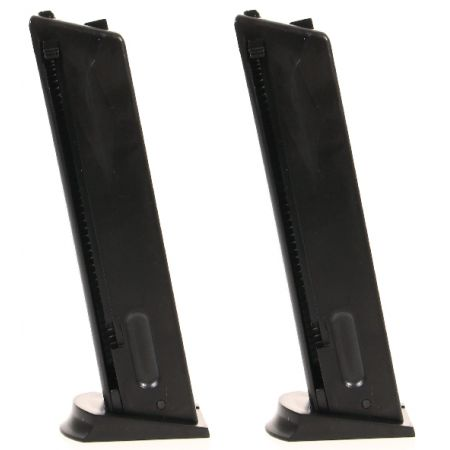 Lot de 2 Chargeurs de 24 Billes Pour Pistolet Taurus PT 92 Spring (210113 & 210002) - 215011