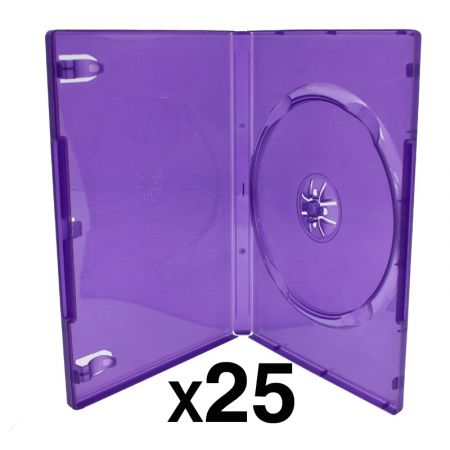 Lot de 25 Boitier Violet Transparent CD / DVD / Jeu Video Kinect Xbox 360 - XR00010TPK_36_1