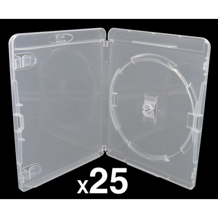 Lot de 25 Boitiers Blu-Ray Transparent Pour Jeu PS3 - BRDVDPS3BK_104
