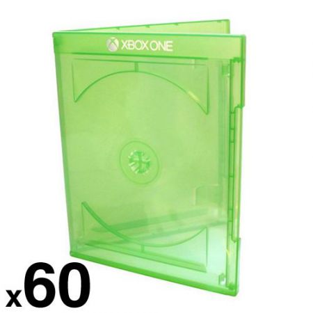 Lot de 60 Boitiers Jeu Xbox One Officiel Microsoft Vert Transparent - Jeu Video - BRAMAXBOXK_104