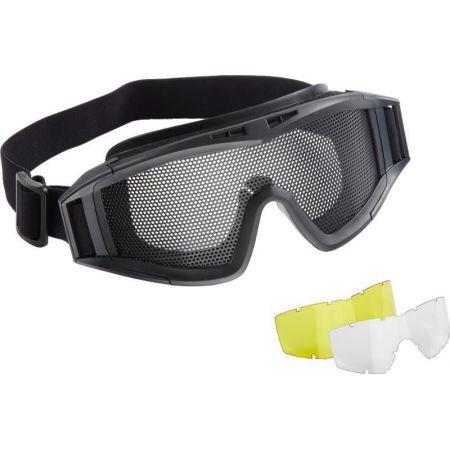 Lunettes Masque De Protection Grillagé Elite Force MG300 Noir + 2 Ecrans De Protection - 25037
