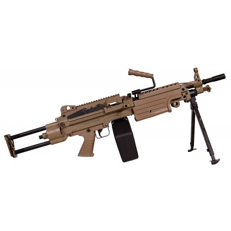 Machine Gun FN Herstal Minimi M249 Para Full Metal Dark Earth A&K 200964
