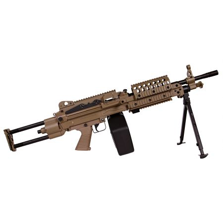 Machine Gun FN Herstal Minimi MK46 (MK 46) Full Metal Dark Earth A&K 200971