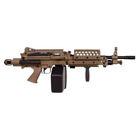 Machine Gun FN Herstal Minimi MK46 (MK 46) Full Metal Dark Earth A&K 200971