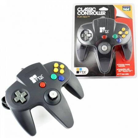 Manette Analogique Noire Nintendo 64 N64 TTX Tech - NXN64-019