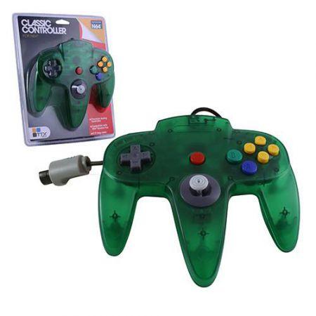 Manette Analogique Vert Translucide Nintendo 64 N64 TTX Tech - NXN64-063