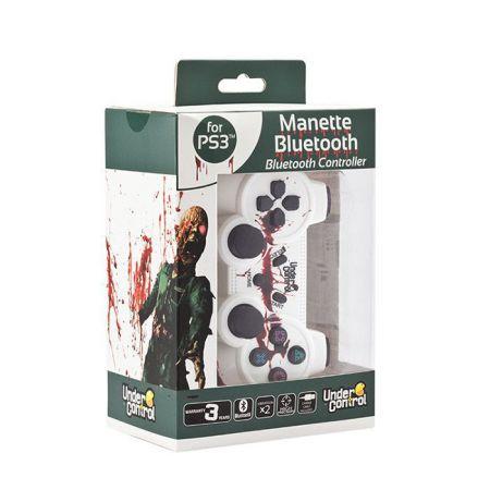 Manette Console Ps3 Sans Fil Bluetooth Blanche Zombie