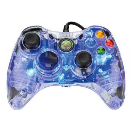 Manette Filaire Xbox 360 Afterglow Bleu - PDP