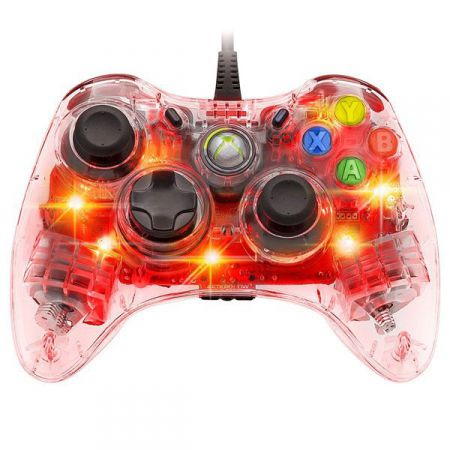 Manette Filaire Xbox 360 Afterglow Rouge - PDP