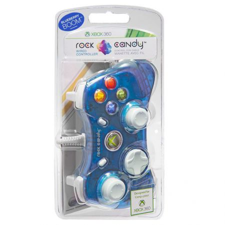 Manette Officielle Microsoft Xbox 360 Filaire - Bleu Rock Candy
