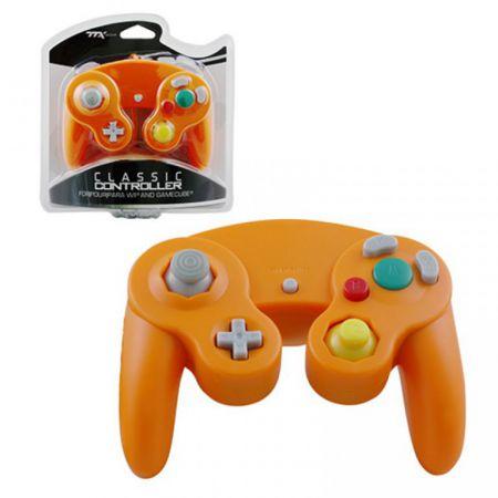 Manette Orange Classique Pour Console GameCube & Wii