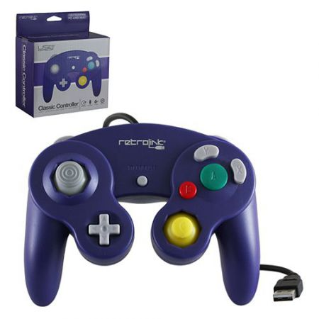Manette PC & MAC USB Forme Nintendo Gamecube Violette - RB-PC-739