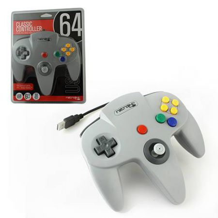 Manette Pc USB Classic Controller Nintendo 64 (N64) Grise