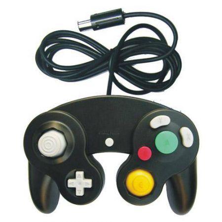Manette Pour Console GameCube (Compatible Wii) Noire (Forme Nintendo)