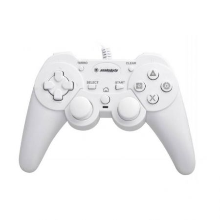 Manette Ps3 Filaire Blanche Avec Rapid Fire Snakebyte