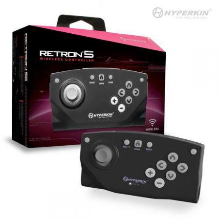 Manette Retron 5 (Retro R5) Noire Sans Fil Bluetooth - Hyperkin - AR54607