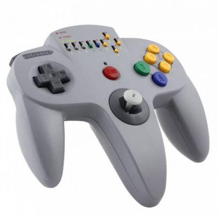 Manette Sans Fil Nintendo 64 (N64) Hypermode Grise