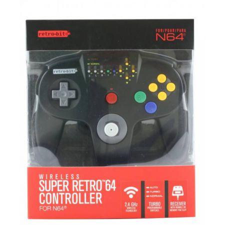 Manette Sans Fil Nintendo 64 (N64) Hypermode Noire