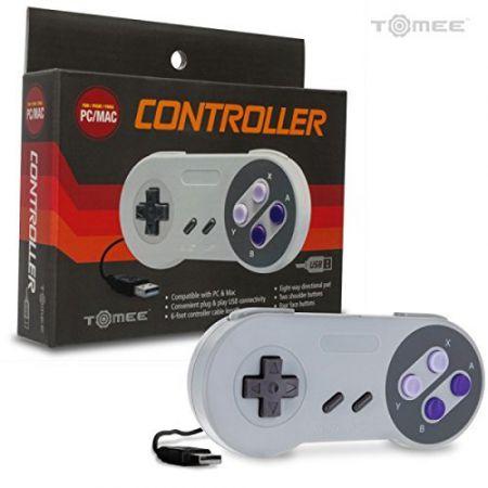 Manette USB Pour Pc & MAC Style Super NES Nintendo SNES - Tomee