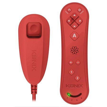 Manette Wiimote + Nunchuck Nintendo Wii & Wii u - Rouge - Konix