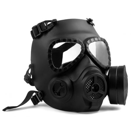 Masque à Gaz Intégral Rigide Toxique Biochimique Airsoft - Noir