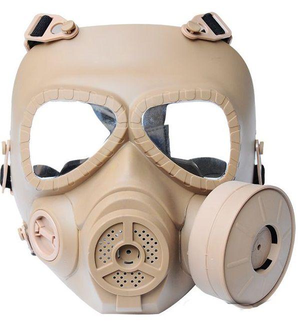 masque gaz int gral rigide toxique biochimique airsoft tan avec. Black Bedroom Furniture Sets. Home Design Ideas