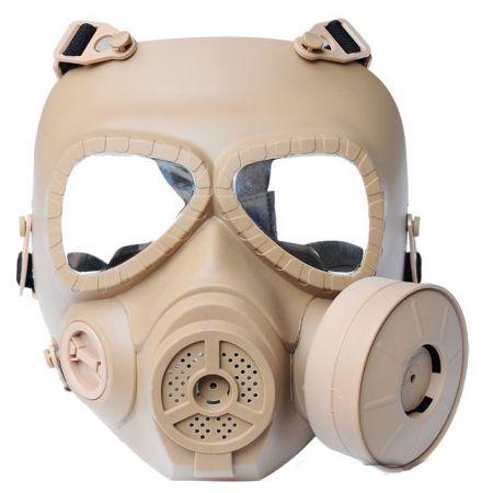 Masque à Gaz Intégral Rigide Toxique Biochimique Airsoft - Tan