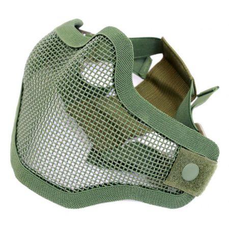 Masque Grillage Stalker Protection Bas Visage Olive Vert - 603989