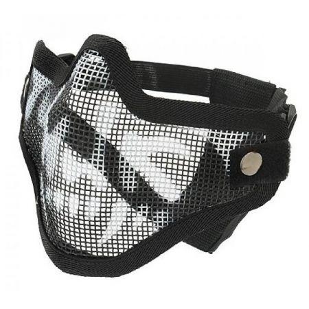 Masque Grillage Stalker Skull V1 (Tête de Mort) Bas Visage - Noir