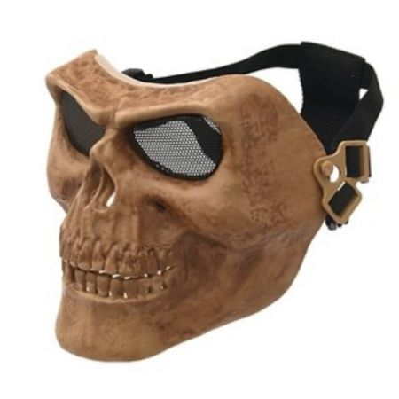 Masque Integral Rigide Skull Tête de Mort Airsoft - Tan