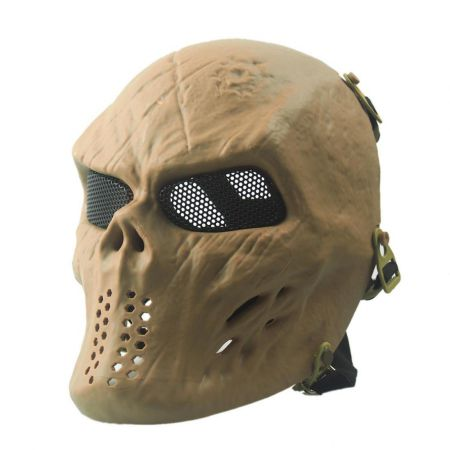 Masque Integral Rigide Skull V2 Tête de Mort Airsoft - Tan