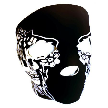 Masque Neoprene Protection Integrale Visage Noir Pirate - 67147