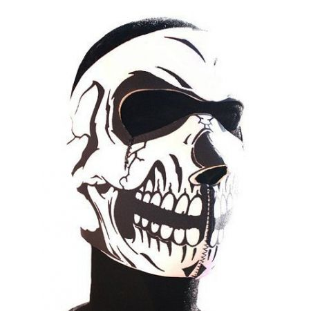 Masque Neoprene Protection Integrale Visage Tete De Mort - 67127