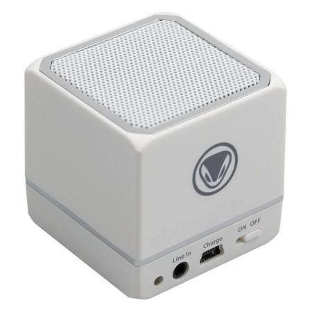Mini Enceinte Portable Blanche Bluetooth Audio:Cube Smartphone & Tablette