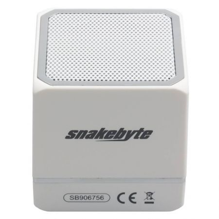 Mini Enceinte Portable Blanche Bluetooth Audio:Cube Smartphone & Tablette