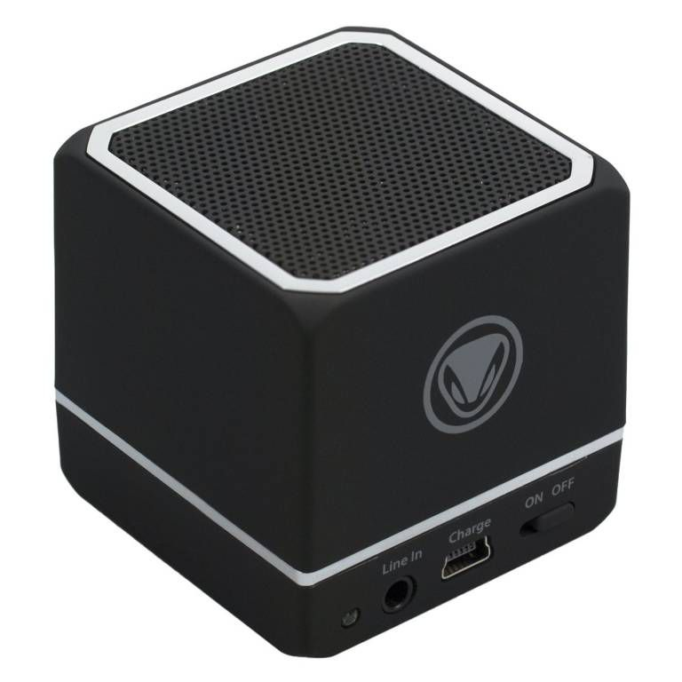 mini enceinte portable noire bluetooth audio cube. Black Bedroom Furniture Sets. Home Design Ideas