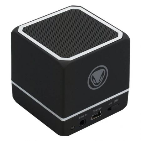 Mini Enceinte Portable Noire Bluetooth Audio:Cube Smartphone & Tablette