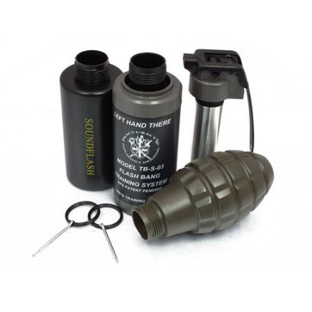 Pack Complet Grenade CO2 Hakkotsu - Detonateur + Cuillere + Goupilles + 3 Coques - TB03