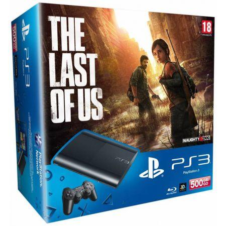 Pack Console Ps3 Ultra Slim Noire 500 Go + Jeu The Last Of Us + Saints Row 4