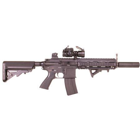 Pack Fusil Classic Army CA416 HK416 SP046P + Red Dot COMP M2 + Batterie 9.6V - 1600mAh + Chargeur + Sachet 4000 Billes 0.25g