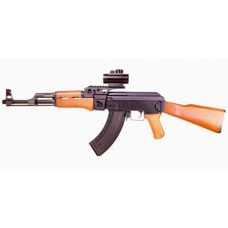 Pack Fusil JG A47 Type AK47 AEG + Red Dot + Rail Picatinny + Sangle + Sachet 4000 Billes 0.25g