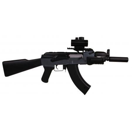 Pack Fusil Kalashnikov AK47 Spetsnaz Beta AEG (120913) + Red Dot + Rail Picatinny + Silencieux + Sangle + 2 Chargeurs 550 Billes + Sachet 4000 Billes 0.25g