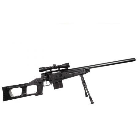 Pack Fusil Sniper SAS08 Spring Swiss Arms 280738 + Lunette 4x32 + Bipied + Sachet 4000 Billes 0.25g