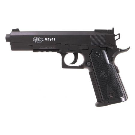Pack Pistolet Colt 1911 (M1911) Co2 (180306) + 2 Chargeurs + 5 Cartouches Co2 + Mallette de Transport + 4000 Billes Blanche 0.20g